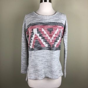 American Eagle Outfitters Knit Sweater Aztec